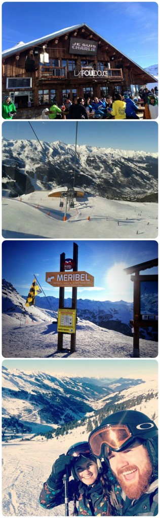 A day in Meribel and La Tania. Alpine Action ski holidays.