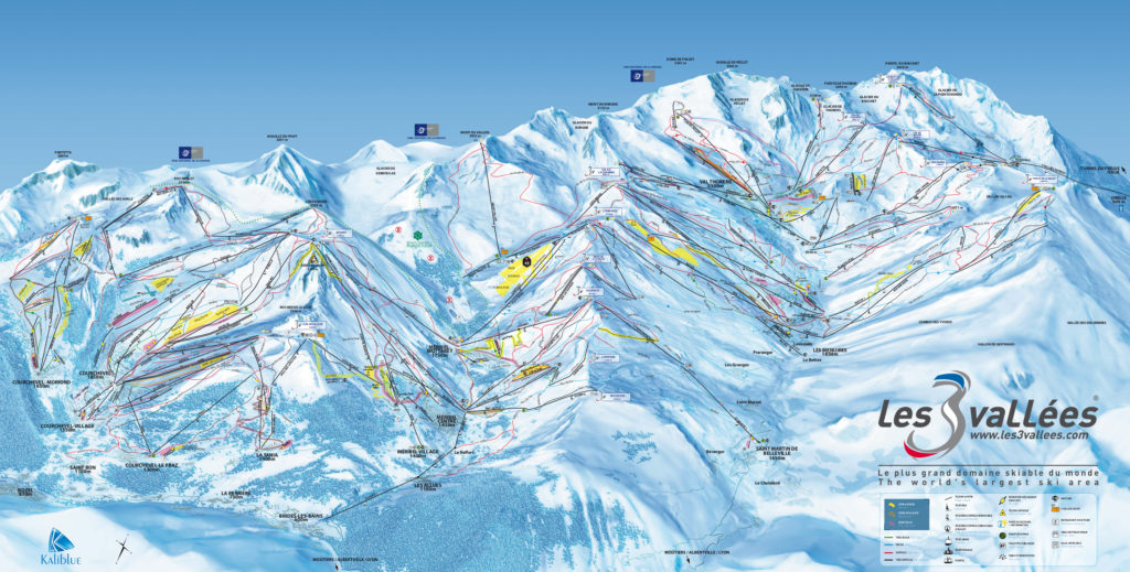 3 valleys piste map 2017