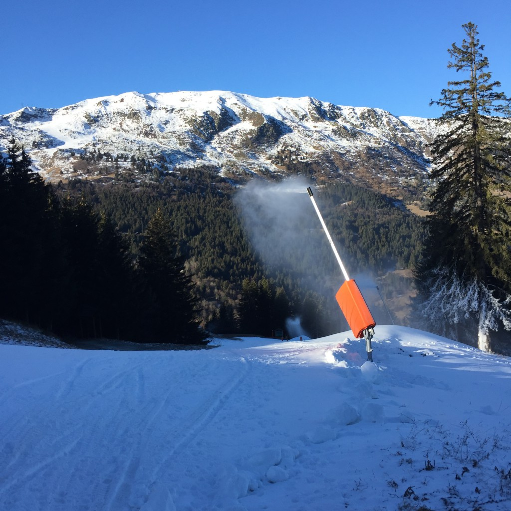 Snow making Meribel