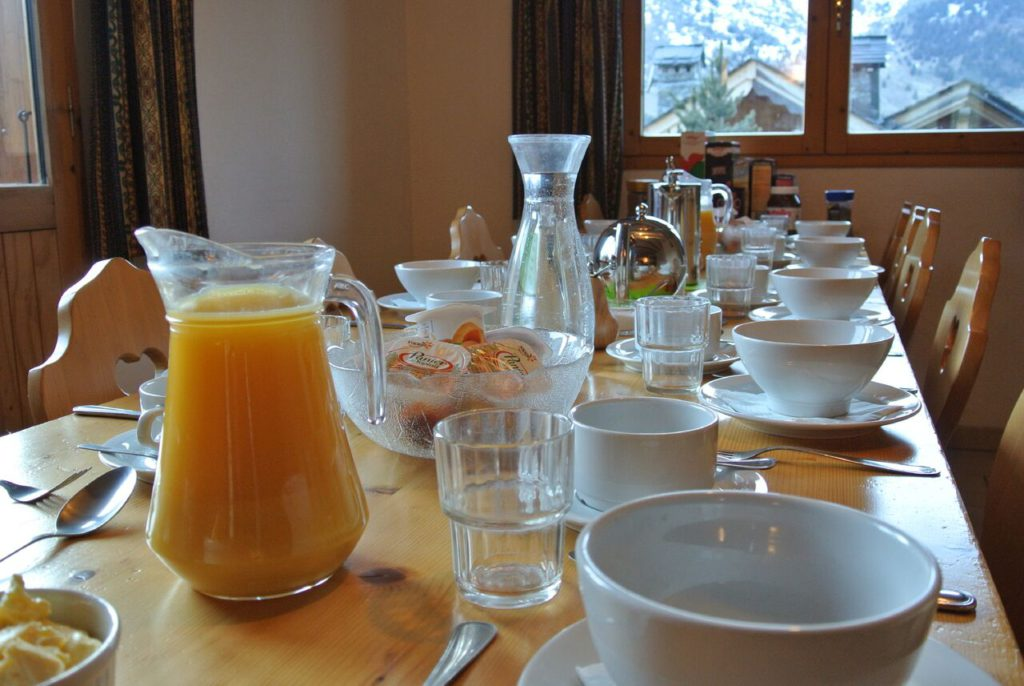 Catered chalet breakfast