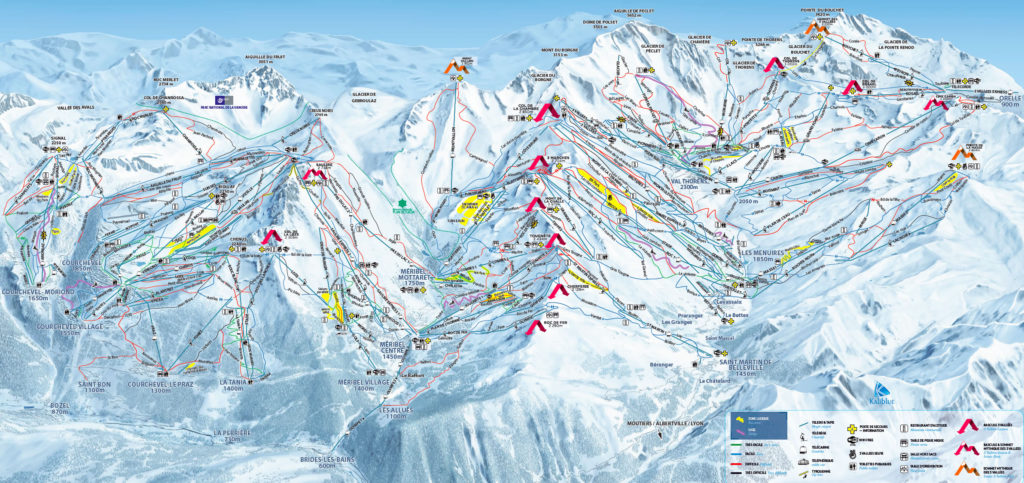 Three Valleys Piste Guide