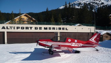 Flight over meribel for non skiers