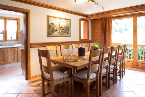 Dining in Fully Catered Ski Chalet