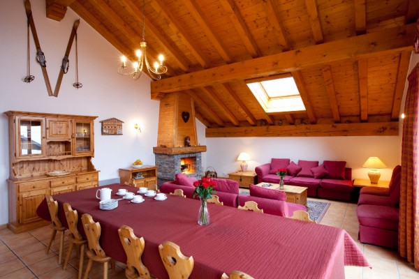 Spacious living and dining area Meribel Chalet