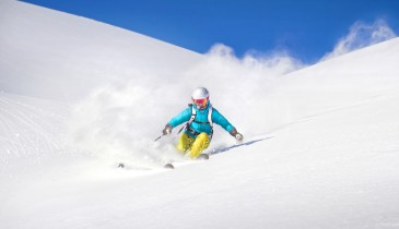 Skiing in The Three Valleys, Meribel