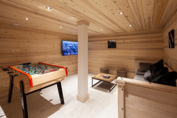 Games room in Chalet Chardon Meribel Centre