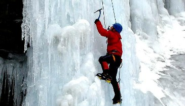 Ice climing trips for non skiers Meribel