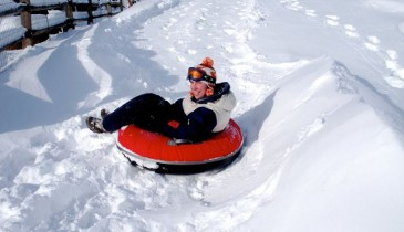 Inner tubing trips for non skiers Meribel