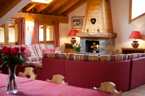 Warm Fire in Cosy Ski Chalet