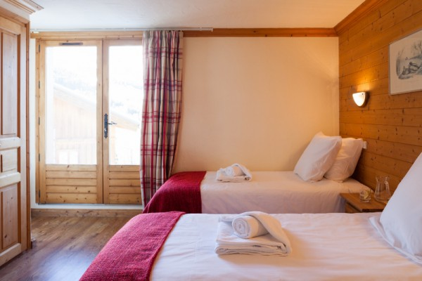 Meribel Chalets with twin beds