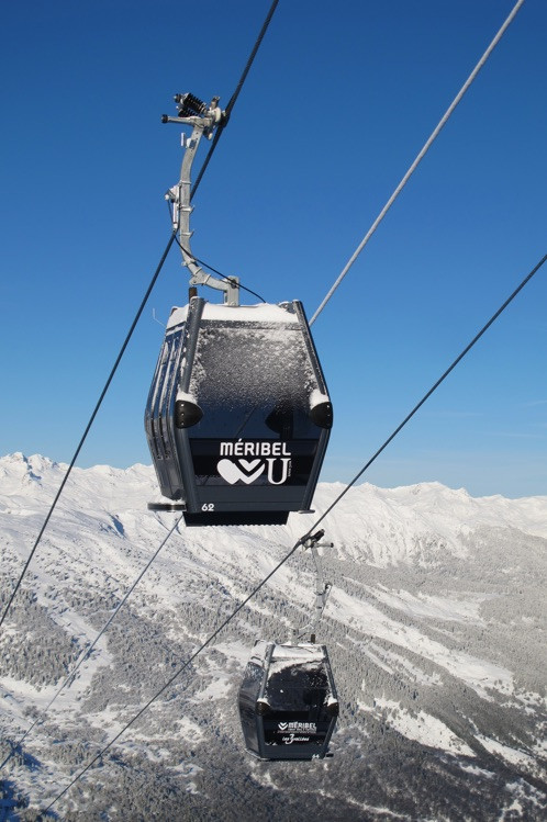 A ski lift in Meribel