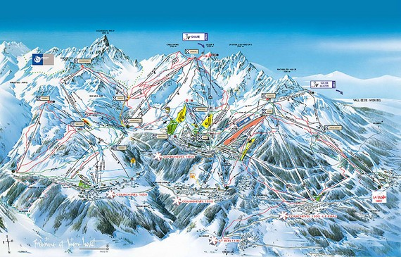Belle plagne piste map