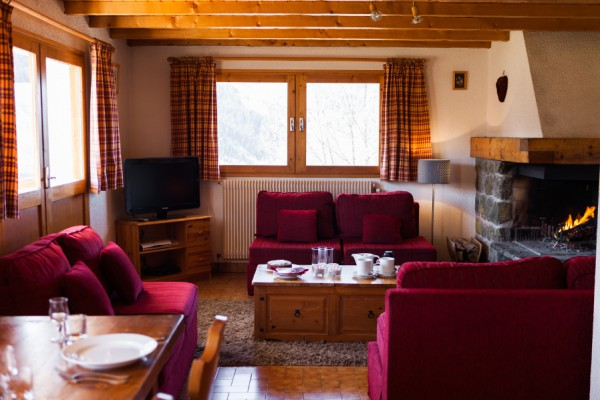 Chalet Rosalie's cosy living space